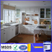 Scratch resistant water based polyurethane wood cabinet paint