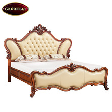 118-A05 Modern baroque bedroom set royal French Rococo Style King Queen Size bed