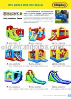 Inflatables playground slides and castles