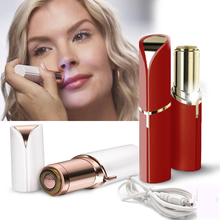 High Quality lip stick shape hair removal Lady Makeup Painless Face Hair Remover