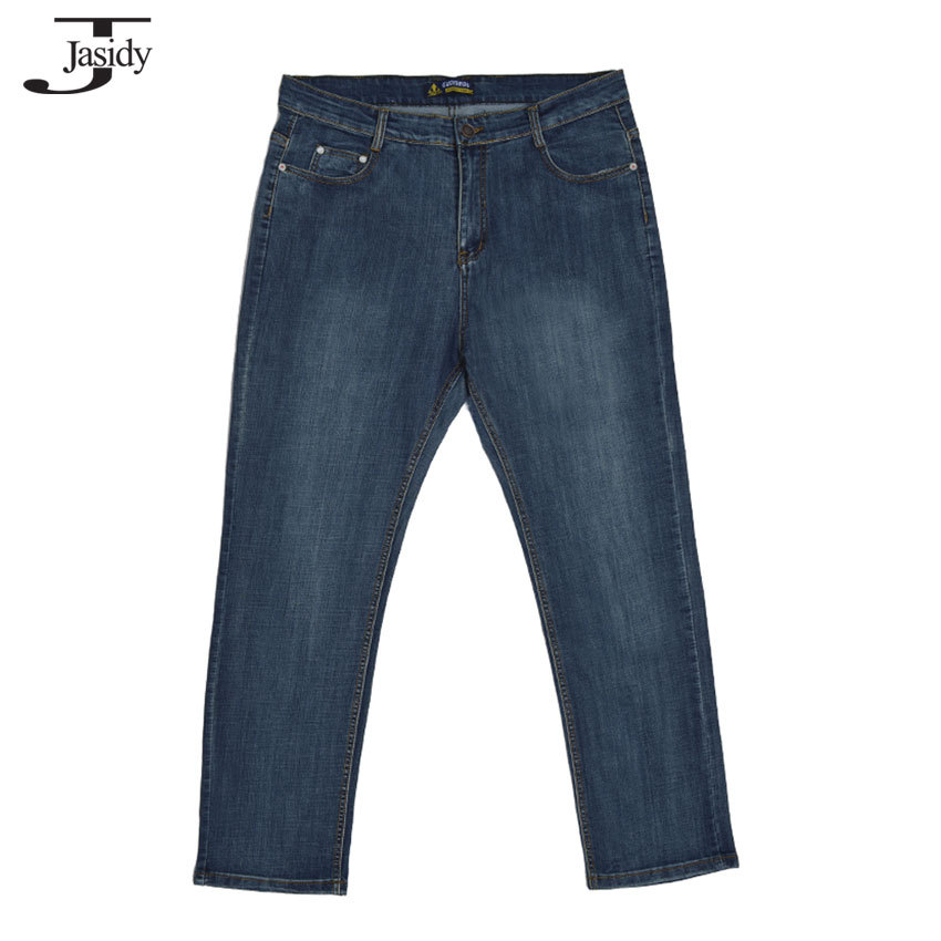 38-52 Mens Fashion jeans men pants Elastic Full Length Denim mens jeans Brand  Lightweight Straight Casual jeans homme No.14011