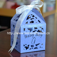 laser cut baby box, baby girl favor boxes for baby shower decoration for child