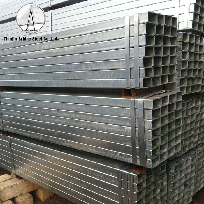 my test 2 galvanized square and rectangular mild steel pipes