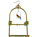 Golden Stainless Steel Birds' Hanging Stand Parrot Playgym