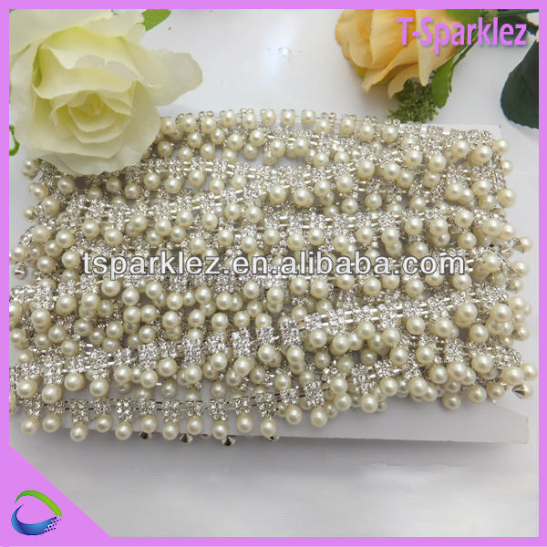 bridal sewing supplies wedding brides pearl rhinestone trimming with stone
