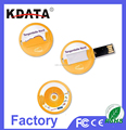 Round Card USB 2.0 Flash Disk Card Style USB Flash Drive Card USB Flash Memory Disk
