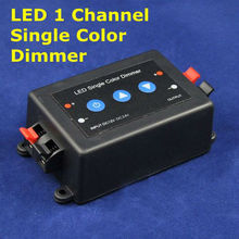 Promotion! DC12/24V LED 1 channel key press single color Controller Dimmer for led light