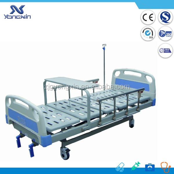 Double Crank manual medicinal bed for hospital YXZ-C-017