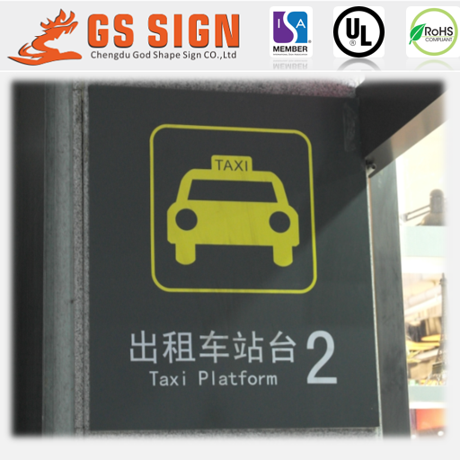 Led lighted taxi station notice board sign