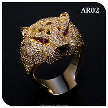 hot trendy gold color animal jewellery rings wholesale