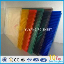 lexan frosted colored polycarbonate hollow sheet