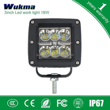 18w Led Cube Work Lights spot 6000K Lamp Bike Motorcycle Square LED Work Light Bar Used in Car Boat Auto Headlight