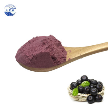 Food supplement organic acai berry powder