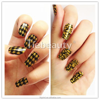 Wholesale cosmetic product nail wraps sticker full nail sticker oem style