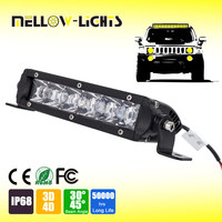Hot sale 7 inch 30w cheap reflect light 3D 4D 110V led light bar for offroad truck boat vehicle atv