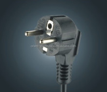 VDE power cord/best popular euro plug /europe 2 round pin with earthing contact VDE plug