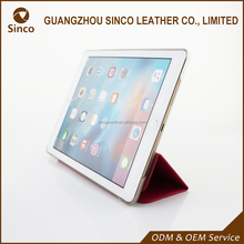 Factory supply ultra thin PU leather case flip tablet cover for ipad