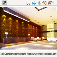 Plant fiber material decorative 3d faux leather decorative wall covering panels