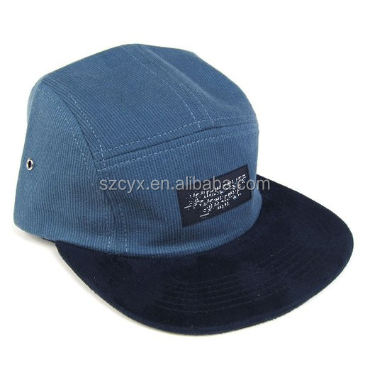 Common Fabric Feature and Character Style corduroy 5 panel cap