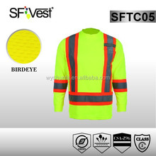 2015 shunfa long sleeve round neck high visibility polo shirt , CSA CLASS 2