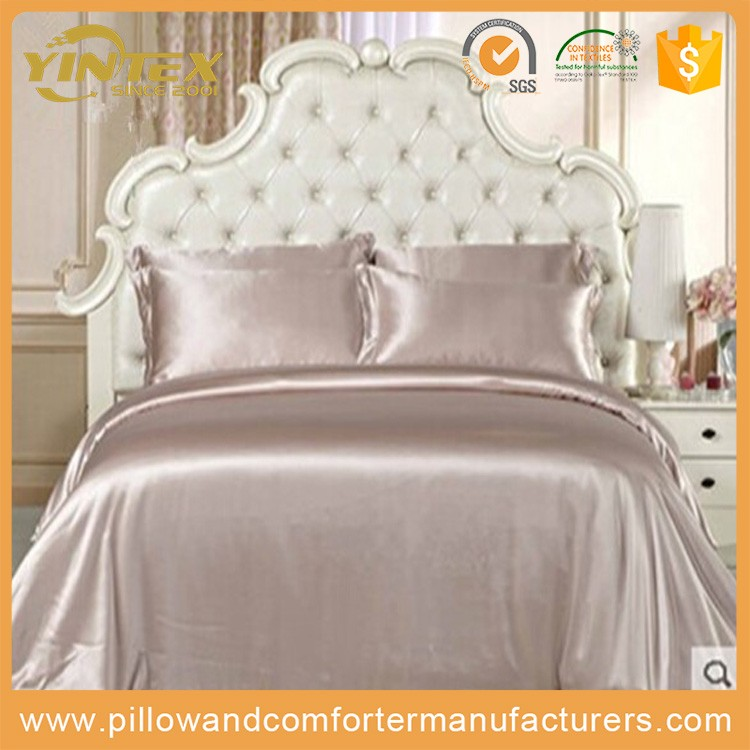 4PCS silk material luxuary bed sheet