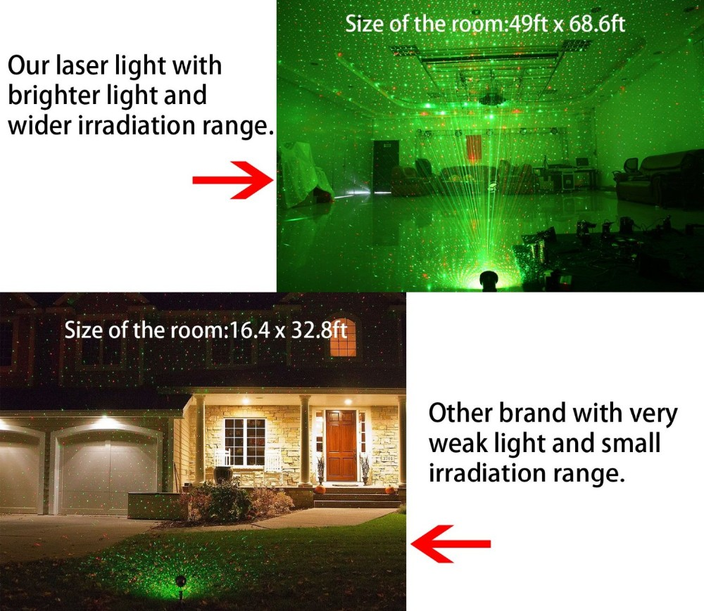 Newest Factory outdoor indoor walmart Christmas laser lights/red green moving laser decotive light