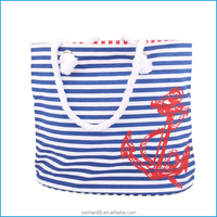 New launched large fashion canvas bag, women summer beach tote bag