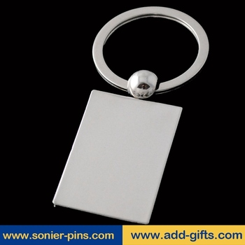 cheap custom keychains no minimum with printing key chain with logo plating nickel