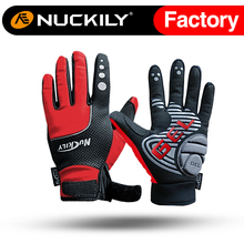Nuckily manufacturer best quality thermal Full finger cycling gloves for winter riding