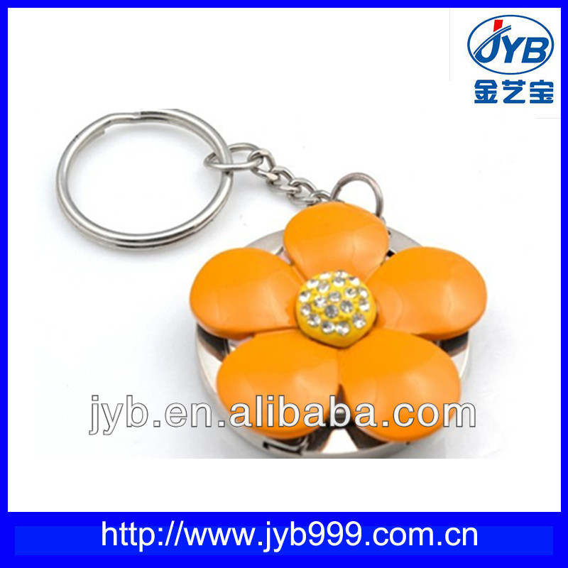 purse hanger hook /decorative flower shape keychains with keyring