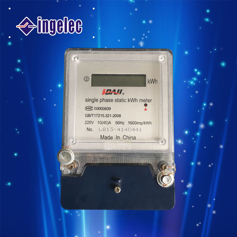 DDS single-phase two wire watt-hour meter 220V 50Hz Single phase static kWh digital meter made in China