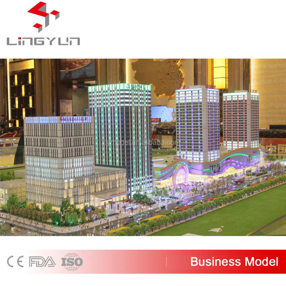 Acrylic,ABS,LED Lights ,Miniature Scale Model Making ,Commercial Plaza Model Making
