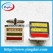 Custom brass imitation hard enamel man's metal cufflink