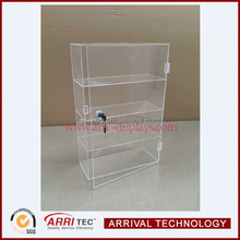 2015 hot sale high quality China factorywholesale 4 tier high clear cosmetic showcase lockable makeup display storage cabinet