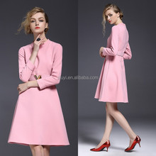 New items in the market modal wholesale clothing new york fashion evening dress for elegant women pink color slim fit