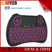 Soyeer Mini Backlight H9 Colorful Backlight Rf Air Mouse Remote Control For Smart Tv