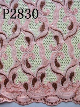 P2830 High Quality African Big Heavy cotton lace fabric