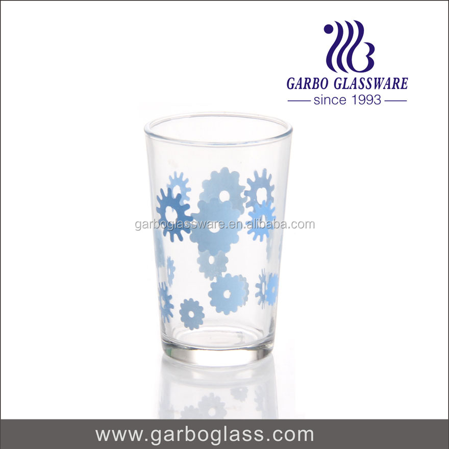hot sale printing Glass Cup 220ml logo customized