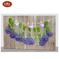 Pretty lavender Picture With Fiber Decoration Wall Art for Home