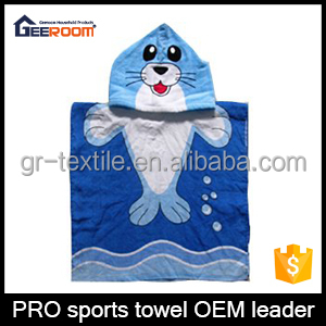 100% Cotton Velour Reactive Printed Hooded Baby Towel