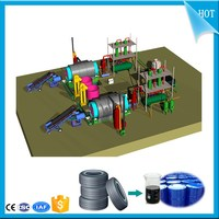 Safety Quality Control Waste tyre recycling plant to diesel_Scrap tire pyrolysis to diesel plant