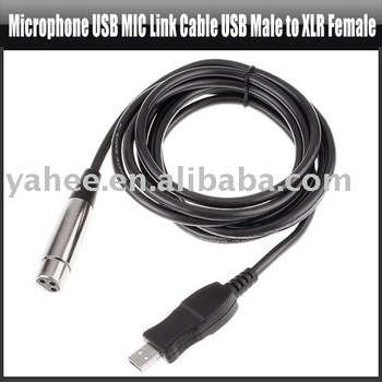 Microphone USB MIC Link Cable USB Male to XLR Female,YHA-HG032
