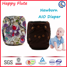 Happy Flute 2016 best sell baby AIO pocket cloth diaper getting started