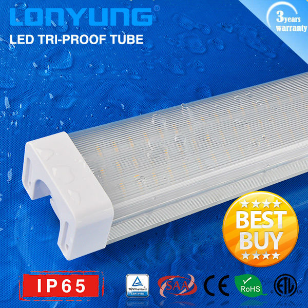 top quality! 1200mm/4ft 40W 50W LED Tri-proof tube light IP65 led fountain waterproof lighting