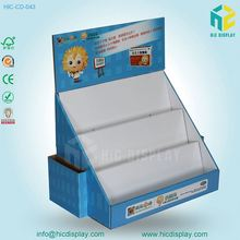 Custom Printed Paper Material Medicine Counter Display Stand with Leaflet Holder