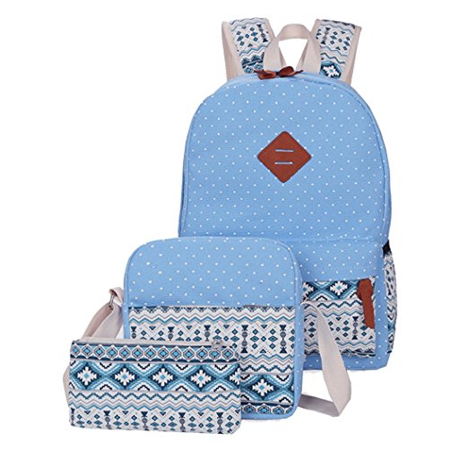 Newest fashion 3 pcs set girls school backpack custom school bag with shoulder bag and handbag