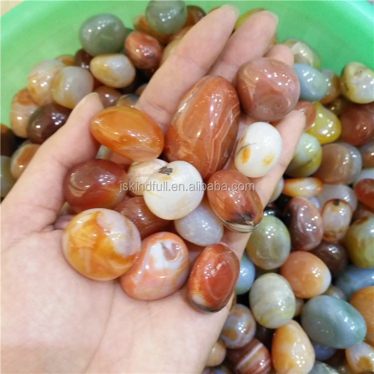 Natural Colorful Agate Tumble Polished Agate for sale