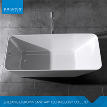 Latest arrival indoor mobile irregular white natural stone acrylic free standing bathtub