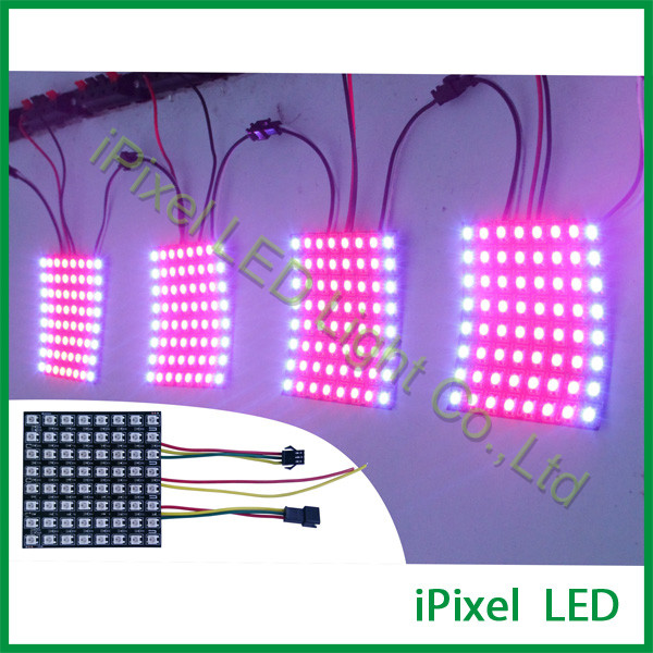 Flexible pixel pitch 10mm 8*8 led matrix-- ws2812b