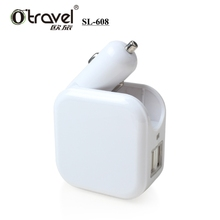 Otravel SL-608 mobile phone car charger universal plug OEM UK EU US AUS, usb car and wall charger